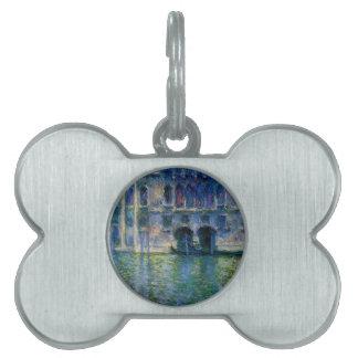 Palazzo DA Mula en Venecia de Claude Monet Placa Mascota