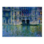 Palazzo DA Mula en Venecia de Claude Monet Tarjeta Postal