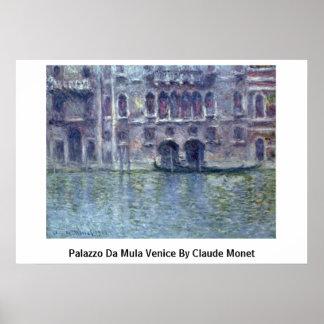 Palazzo DA Mula Venecia de Claude Monet Posters