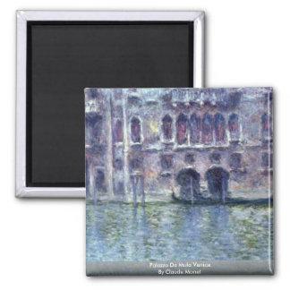 Palazzo Da Mula Venice By Claude Monet Magnet
