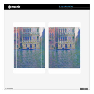 Palazzo Dario 4 by Claude Monet Decal For Kindle Fire