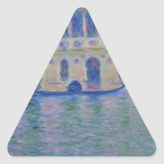 Palazzo Dario 4 by Claude Monet Triangle Sticker