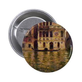 Palazzo Dario by Claude Monet Button