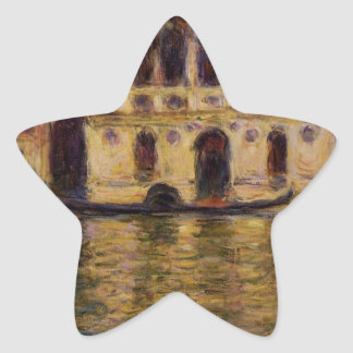 Palazzo Dario by Claude Monet Star Sticker