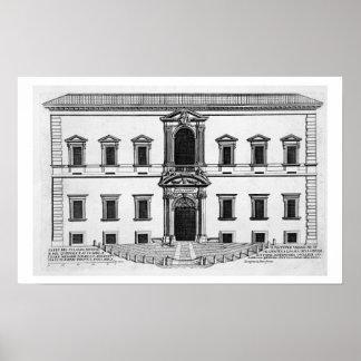 "Palazzo del Quirinale, de los ""di Roma de Palazzi"" Póster"