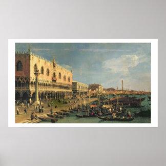 Palazzo Ducale and the Riva degli Schiavoni, Venic Poster
