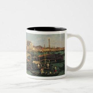 Palazzo Ducale and the Riva degli Schiavoni, Venic Two-Tone Coffee Mug
