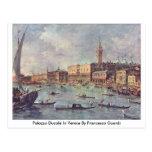 Palazzo Ducale en Venecia de Francesco Guardi Postal