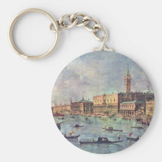 Palazzo Ducale In Venice By Guardi Francesco Key Chains