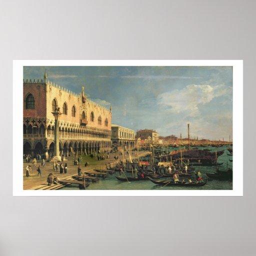 Palazzo Ducale y el degli Schiavoni, Venic de Riva Impresiones