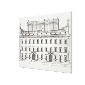 Palazzo Falconieri, Rome, from 'Palazzi di Roma', Canvas Print