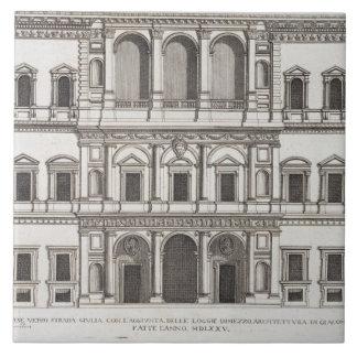 "Palazzo Farnese, de los ""di Roma de Palazzi"", part Azulejo Cuadrado Grande"