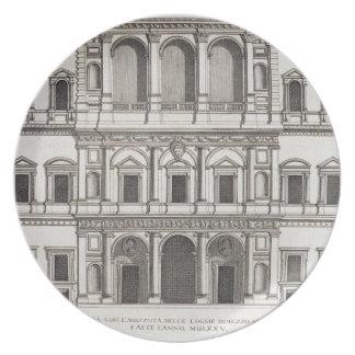 """Palazzo Farnese, de los """"di Roma de Palazzi"""", part Platos Para Fiestas"""