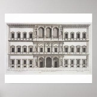 """Palazzo Farnese, de los """"di Roma de Palazzi"""", part Póster"""