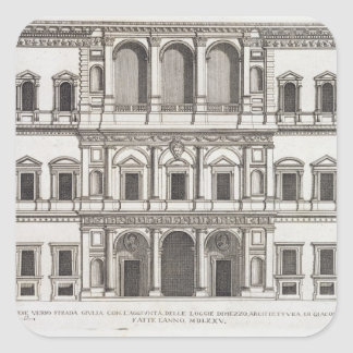 """Palazzo Farnese, de los """"di Roma de Palazzi"""", Pegatina Cuadrada"""