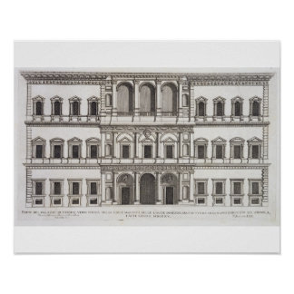 Palazzo Farnese, from 'Palazzi di Roma', part I, p Poster