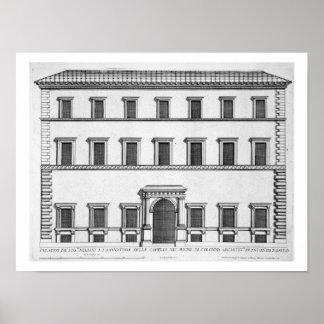 """Palazzo Millini, Roma, de los """"di Roma de Palazzi"""" Póster"""