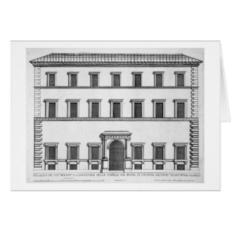 """Palazzo Millini, Roma, de los """"di Roma de Palazzi"""" Tarjeta De Felicitación"""