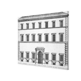 Palazzo Millini, Rome, from 'Palazzi di Roma', par Canvas Print
