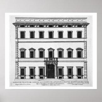 Palazzo of Cardinal Alesandrino, Piazza SS Apostol Poster