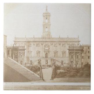 Palazzo Senatorio, el capitolio, Roma, de 'Fragme Azulejo Cuadrado Grande