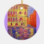 palazzos coloridos de Venecia Ornaments Para Arbol De Navidad