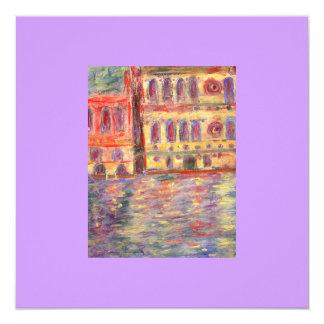 """palazzos de Venecia y luz colorida Invitación 5.25"""" X 5.25"""""""