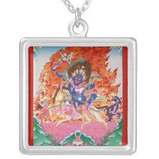 Palden Lhamo Square Pendant Necklace