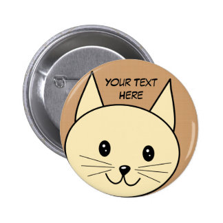 Pale Amber Color Cat. 2 Inch Round Button