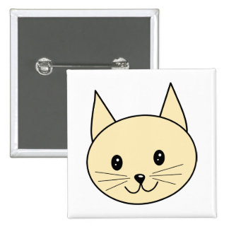 Pale Amber Color Cat. Pinback Buttons