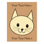 Pale Amber Color Cat. Postcard