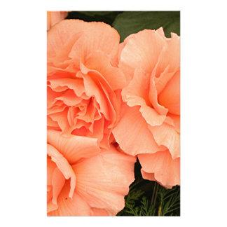 Pale apricot orange begonias stationery