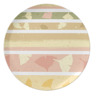 Pale Autumn Melamine Plate