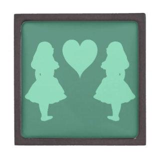 Pale Baby Blue Alice to Alice Premium Keepsake Box