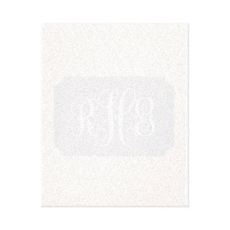 Pale Baby Pink Canvas with Custom Monogram
