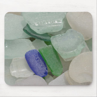 Pale Beach Glass Mouse Pad