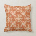 Pale Beige and Tuscany Orange Damask Pattern Pillows