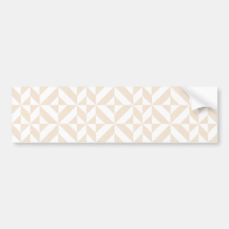 Pale Beige Geometric Deco Cube Pattern Bumper Sticker