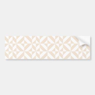 Pale Beige Geometric Deco Cube Pattern Bumper Sticker