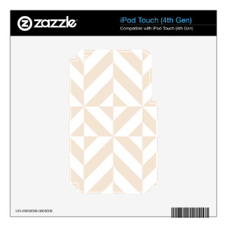 Pale Beige Geometric Deco Cube Pattern iPod Touch 4G Decal