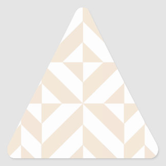Pale Beige Geometric Deco Cube Pattern Triangle Sticker