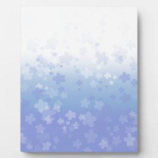 Pale Blossoms Blue Plaque