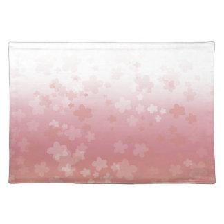 Pale Blossoms Pink Cloth Placemat