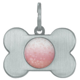 Pale Blossoms Pink Pet Name Tag