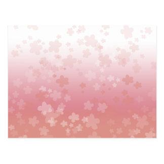 Pale Blossoms Pink Postcard