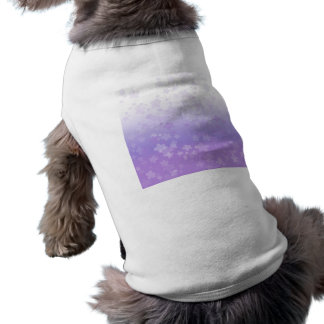 Pale Blossoms Purple Dog Tee Shirt