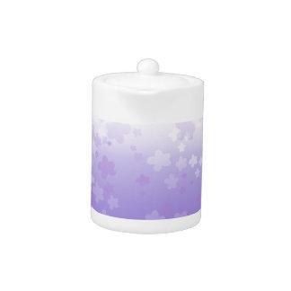 Pale Blossoms Purple Teapot