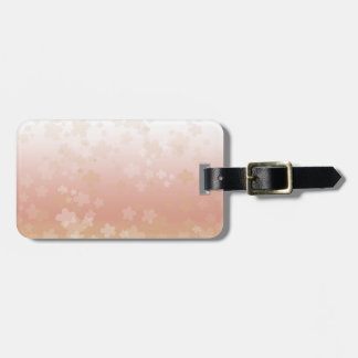 Pale Blossoms Sunset Bag Tag