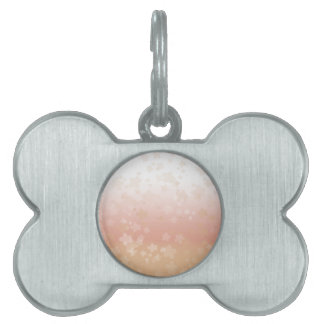 Pale Blossoms Sunset Pet Name Tag