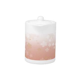Pale Blossoms Sunset Teapot